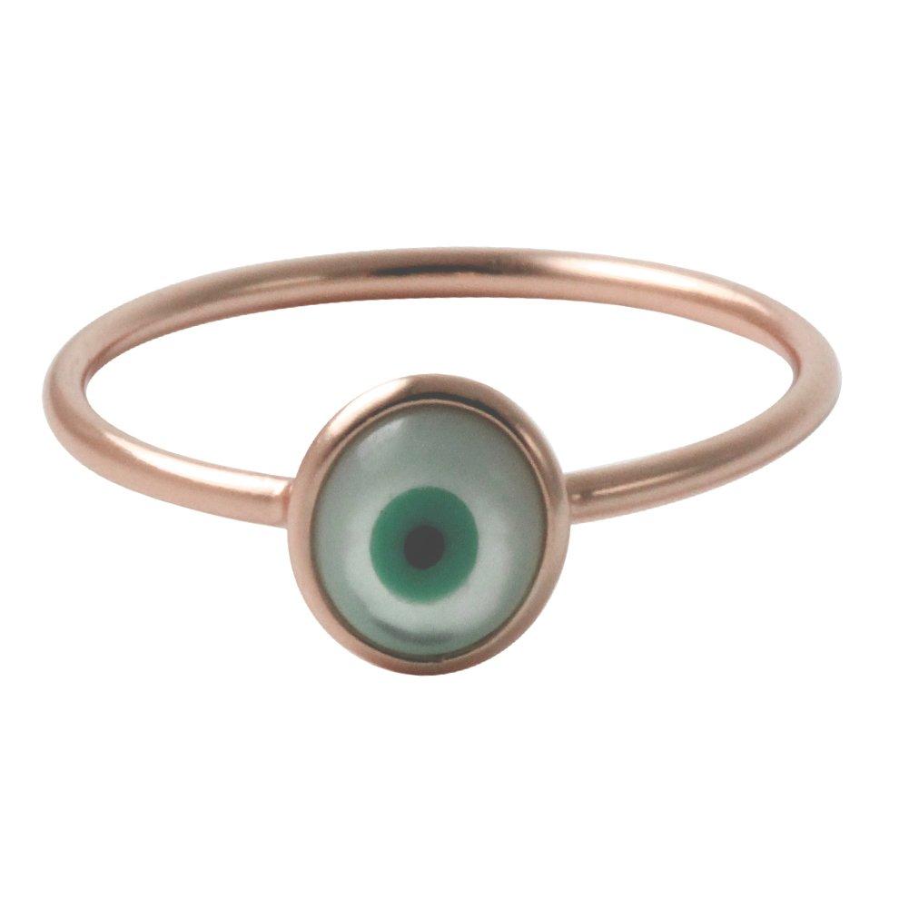 apop nyc 925 Silver White Blue Evil Eye Thin Ring Stacking Size 5 - 9 20EVEYE