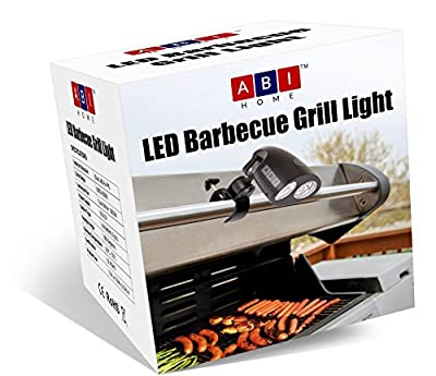 Barbecue Grill Light - BBQ Grill Light by ABI Home - 10 Super Bright LED Lights Adjustable To 3 Levels - 3 AA Batteries - FREE Screwdriver - Heat Resistant Metal Clip - 360 Swivel Head | BUY NOW! from ABI Home