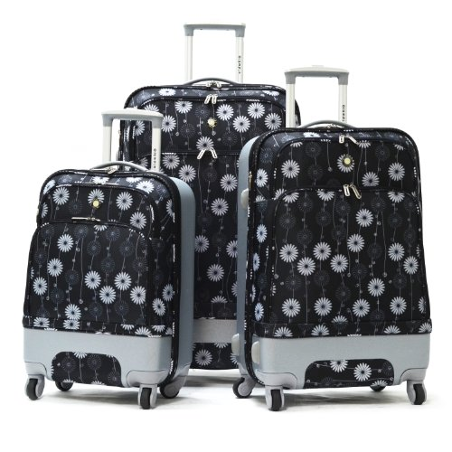 Olympia Luggage Concord 3 Piece Hybrid Set, Black, One Size, Bags Central