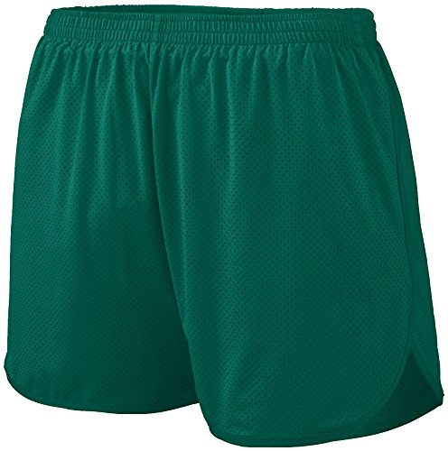 Augusta Sportswear BOYS' SOLID SPLIT SHORT L Dark Green by Augusta Sportswear