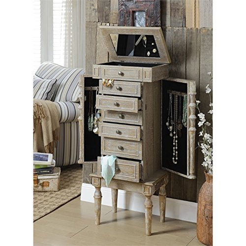 Acme Furniture 97173 Taline Jewelry Armoire, Weathered Oak