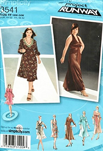 Simplicity 3541 Size 18W-24W Project Runway Dress pdf