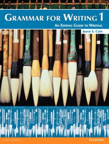 Grammar for Writing 1 (Student Book with Proofwriter): Joyce ...