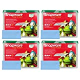 Four Snapware 2-Layer Ornament Keepers w/ Four Blue Microfiber Low-lint Polishing Cloths