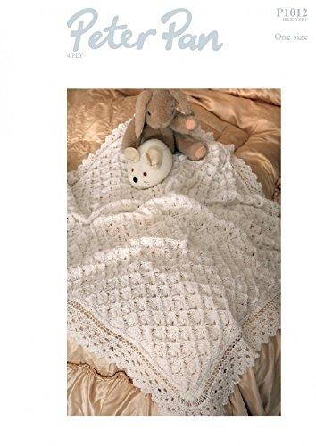c8070ed2dfc3 Peter Pan Baby Lacy Shawl Knitting Pattern 1012 4 Ply  Amazon.co.uk ...