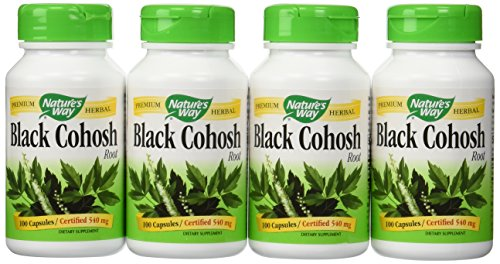 Nature's Way Black Cohosh Root, 100 Capsules (Pack of 4)