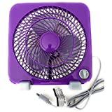Mainstays 9-Inch Personal Fan Purple