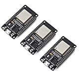 Xiuxin 3pcs/lot ESP32 Development Board 2.4GHz Dual-Mode WiFi + Bluetooth Dual Cores ESP32s Antenna module board for Arduino IDE,Work with Amazon Alexa