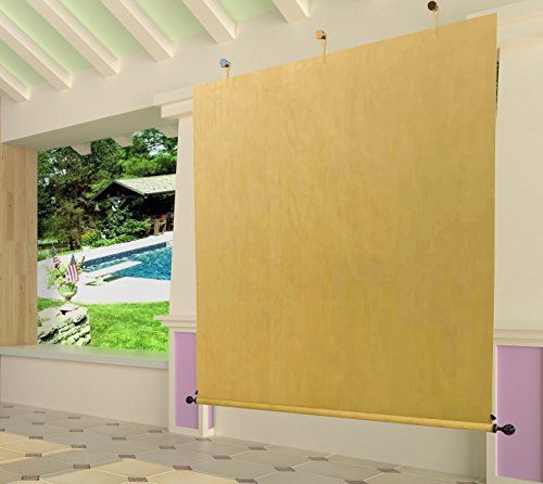 Easy2hang 6ftx6ft Exterior Side Privacy Blind Screen shield your patio/deck/pergola/porch from West Shade, Manual Roller Shade for Roller Shade by Easy2Hang