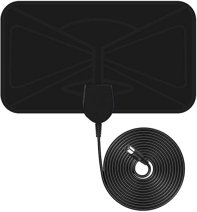 [Nueva versión 2019]Antena TV Interior VicTsing,TV portátil HDTV Digital,40KM Gama de Recepción,Ultra Delgado Amplificador de Señal Removible, cable ...