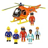 HIT Fireman Sam Mountain Rescue Helicopter & 5 Figure Articulated Set