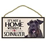 Imagine This Wood Sign for Schnauzer Dog Breeds