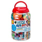 Alex Giant Art Jar is a giant bucketful of fabulous craft. Everything you need for making collage and other paper craft. It comes with multi-colored pom-poms, glitter pom-poms, pipe cleaners, fringed crepe paper, feathers, and more. Includes ...