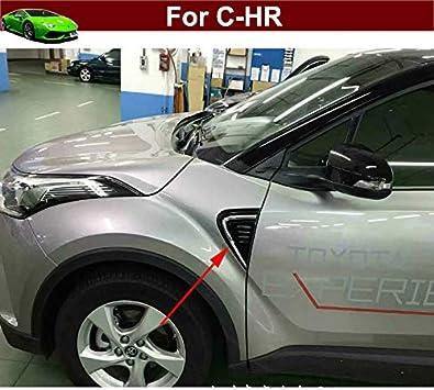 For Accessories Toyota CHR 2017 2019 Carbon Fiber Side Emblem Lamp Cover 2pcs