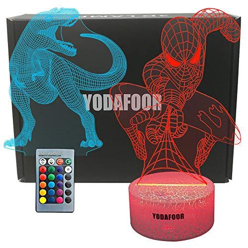 YODAFOOR Dinosaur Night Light Lamp Dinosaur Toy Gifts for Boys Teen Kids Birthday Halloween Christmas Gifts Nurcery Decor Lamp Bedroom Table Decoration (Dinosaur03) -