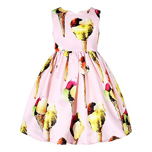Huaqiang fashion NEW Girls Summer Dresses Ice Cream Print Costumes for Kids Clothes Children Princess Dress as photo 7