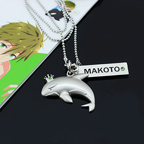 HiRudolph Anime Free! Iwatobi Swim Club Cosplay Dolphin Butterfly Whale Crown Necklace Pendant (Makoto)