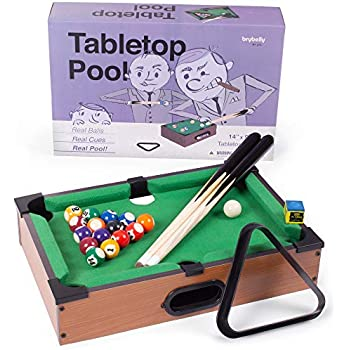 Amazon.com: Mini Tabletop Pool Set- Billiards Game Includes ...