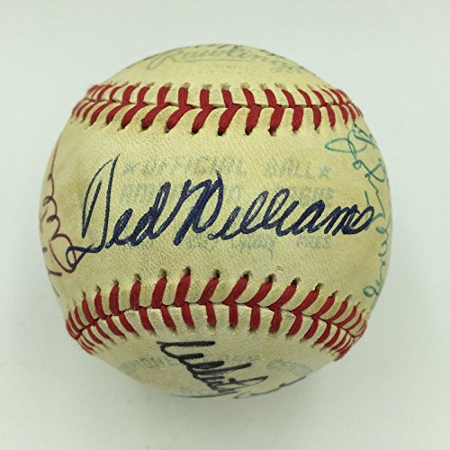 1970's Mickey Mantle Joe Dimaggio Ted Williams Hall Of Fame Signed Baseball - JSA Certified - Autographed Baseballs