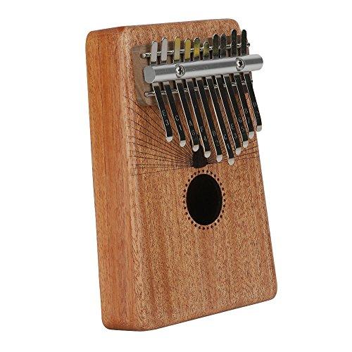 Kalimba Mbira Sanza 10 Keys Thumb Piano Portable Pocket Size Beginners Friendly Solid Finger Piano Mahogany Body Ore Metal Tines with Cruved Statue of Liberty by WANDIC