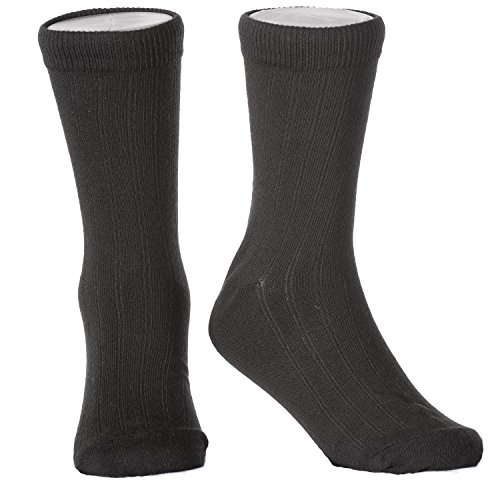Boys Formal Dress Socks Sized for Toddlers Shoe Size 3 to Youth 8 (S (Shoe Size 7-11), (Boys Formal Dress)