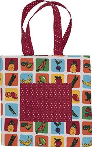 Handstand Kitchen Child's 100% Cotton 'Farmers Market' Book Tote Bag -