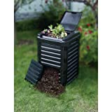 11.36 cu. ft. Stationary Composter - Black