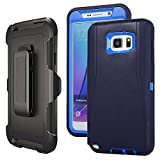 Galaxy Note 5 Case Defender,Harsel Belt-Clip Armor Shock Absorbing Heavy Duty Impact Resistant Full-Body Protective Cover Case w/Clear Screen Protector & Holster for Samsung Galaxy Note 5 (Navy)
