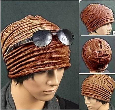 99e81745553 Amazon.com   WAWO Men Women Hats Folds Slouchy Beanie Winter Fall Wool  Skull Cap (Coffee)   Beauty