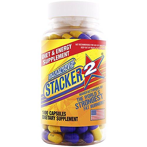 Stacker 2 Ephedra Free, Bitter Orange Free, Fat Burner, 100-Count Bottle