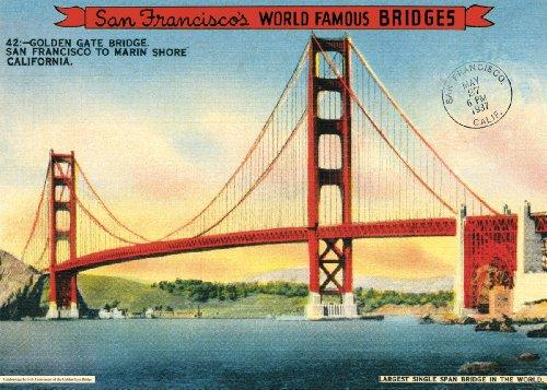 Cavallini Decorative Paper - Golden Gate Bridge 20