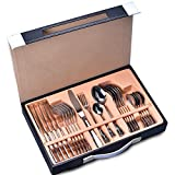 Silverware Set,24-Piece Stainless Steel Flatware Sets Service for 6 Mirror Polishing Cutlery Sets with Gift Box for Home,Kitchen,Restaurant