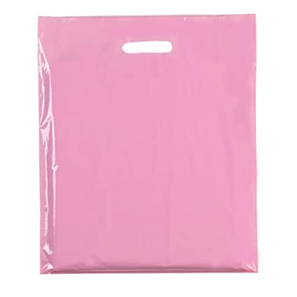 500 x rosa claro (60 micras) colores de plástico de alta ...