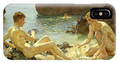 "iPhone X Slim Case ""The Sun Bathers"" by Pixels"