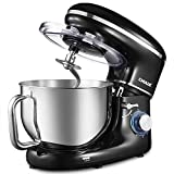 kitchen appliance packages black friday CHULUX Electric Stand Mixer, 1560W Tilt-Head Kitchen Electric Food Mixer, 6.5Qt Stainless steel Bowl, 6 Speed Control, Dough Hook, Whisk, Beater, Splash Guard, for Cake, Bread, Salad