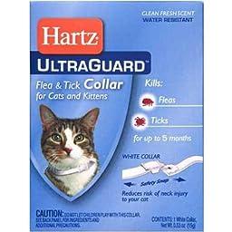 Ultra Guard Flea & Tick Collar - Cats & Kittens - White (Pack of 6)