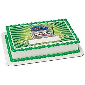 Amazon Com Slot Machine Edible Sheet Cake Topper 20355