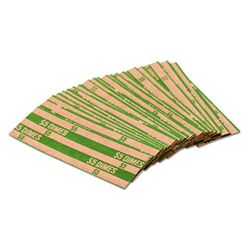 (MMF  Industries Flat Tube Coin Wrapper, 1000 per Box (216020002) )