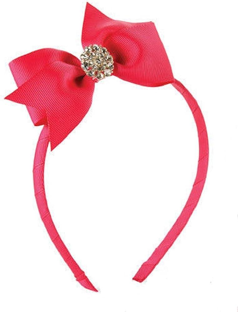 Mud Pie Jeweled Flower Hard Headband Pink