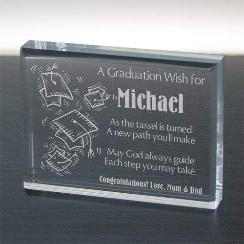 Free Engraving Personalized Custom Graduation Paperweight Frame Class of 2018