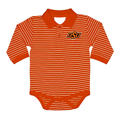- Two Feet Ahead NCAA Oklahoma State Cowboys Boys Infant Boys Long Sleeve Stripe Golf Creeperinfant Boys Long Sleeve Stripe Polo Creeper, Orange, New Born