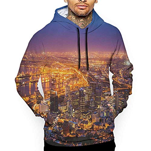 University Of Cape Town South Africa - Hoodies Sweatshirt Pockets City,Cape Town Panorama at Dawn South Africa Coastline Roads Architecture Twilight,Marigold Blue Pink Zip up Sweatshirts for Women