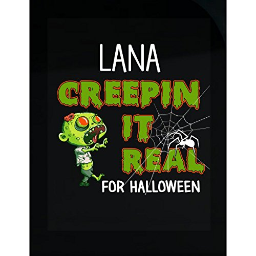 Prints Express Lana Creepin It Real Funny Halloween Costume Gift - Sticker