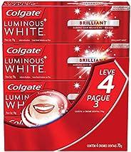 Creme Dental Colgate Luminous White Brilliant Mint 70g , Kit com 4 unidades, Colgate