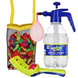 DG SPORTS Pack of 200 Water Balloons Bundle Set – Includes Pump for Quick and Easy Fill Up + Tie Knot Tool + Ball Launcher + Mesh Bag – Awesome Water Fight Kit for Kids - Summer Fun Battle Balloons
