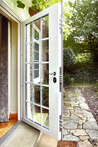 Escudo Casa soluciones de seguridad para puerta de lujo, Classic 8 paneles compuesto puerta delantera, conjunto completo 950 x 2050 hacia apertura izquierda bisagras: Amazon.es: Bricolaje y herramientas