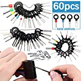 Vignee Terminal Removal Tool kit,60pcs Pins Terminals Removal Tools for Car Pin Extractor Electrical Wiring Crimp Connectors Key Extractor Connector Depinning Tool Set