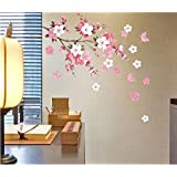 Removable Wall Sticker Flowers Butterfly Decal Art DIY Home Wall Decor YHF-0110-S