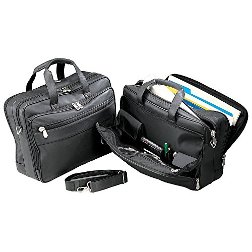 Bellino 6048 Soft Sided Leather Laptop Briefcase - Executive Brief Bag