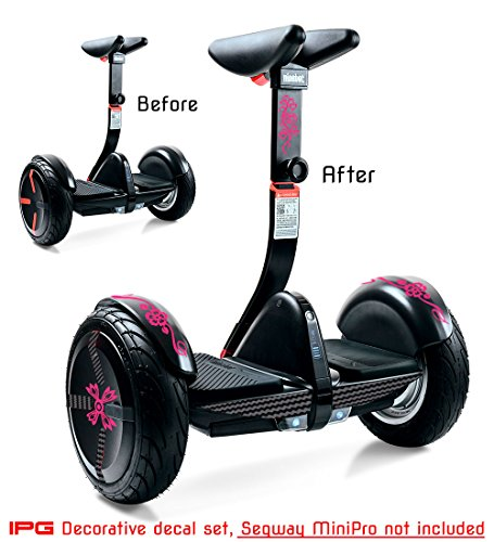 IPG For Segway miniPRO | Smart Self Balancing Personal Transporter Hoverboard Decorative Scooter Accessories Vinyl Decal Wrap Skin Do it Yourself by (Flower -